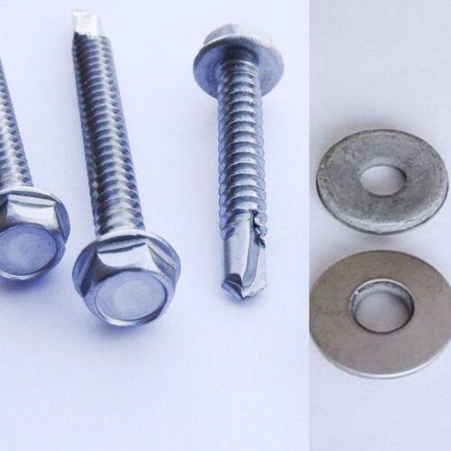 Edelstahl VA Bohrschrauben DIN7504 K Blechschrauben  für Weichmetall