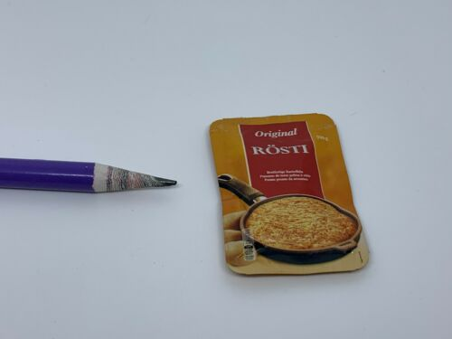 G001 Dollhouse Miniature pack of pancake crepe naan pizza migros supermarket 1:4
