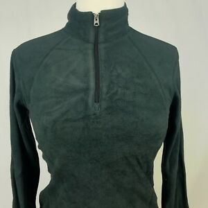 Columbia-Womens-1-4-Zip-BLACK-Fleece-Jacket-Size-SMALL-Outdoors-Casual