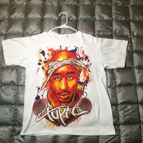 Vtg Tupac White T-shirt Medium