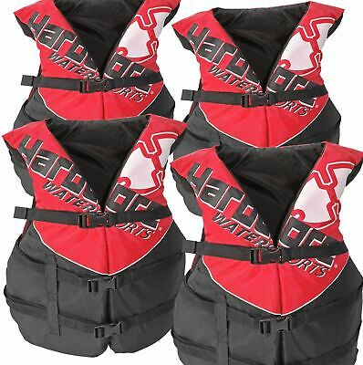 Details about  /2 Pack Hardcore Adult Life Jacket PFD Type III Coast Guard Ski Vest Red