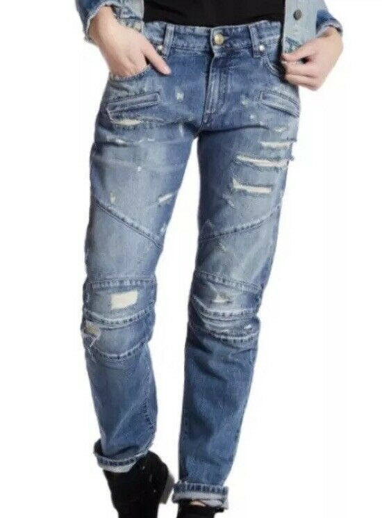 Pierre Balmain Distressed Denim Jeans 25 675