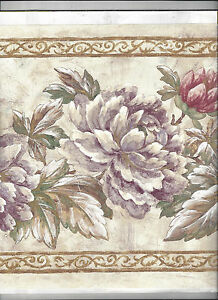 Wallpaper Border Flowers Floral New Arrival 10 1 2 Inches Wide Ebay