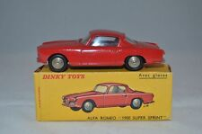 Dinky Toys 24 J Alfa Romeo 1900 super sprint perfect mint in box