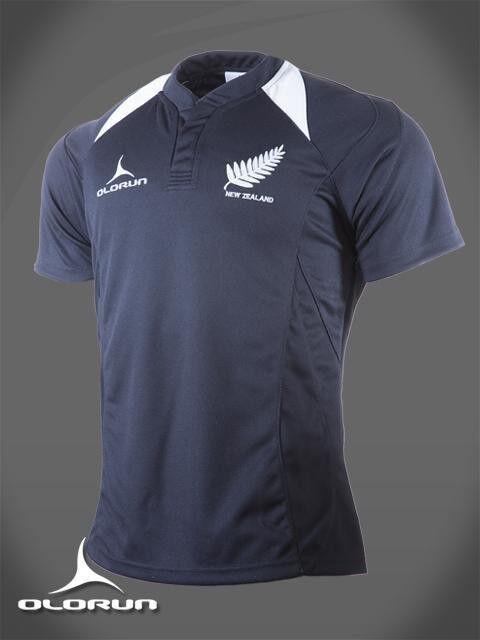 Olorun Olorun Olorun Neuseeland Fans Rugby-trikot Schwarz weiß S-XXXXL abf136