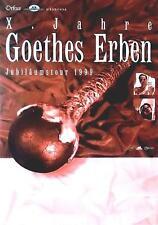 """GOETHES ERBEN TOUR POSTER / KONZERTPLAKAT """"JUBILÄUMSTOUR 1999"""""""