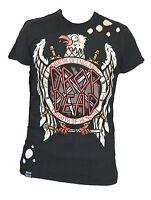 Drop Dead Slayer Eagle Guys Denim T-shirt Black Xs, S, M, L, Xl