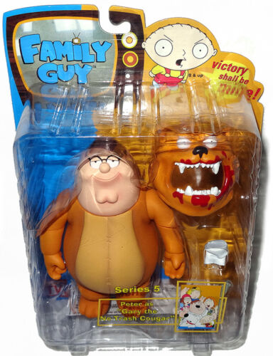 Family Guy Peter comme Gary The NO TRASH Cougar Figure Series 5 Comme neuf in box RARE Mezco jouet!