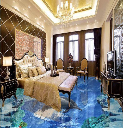 3D oceano ghiaccio Pavimento Foto Wallpaper Murales Muro Stampa Decalcomania