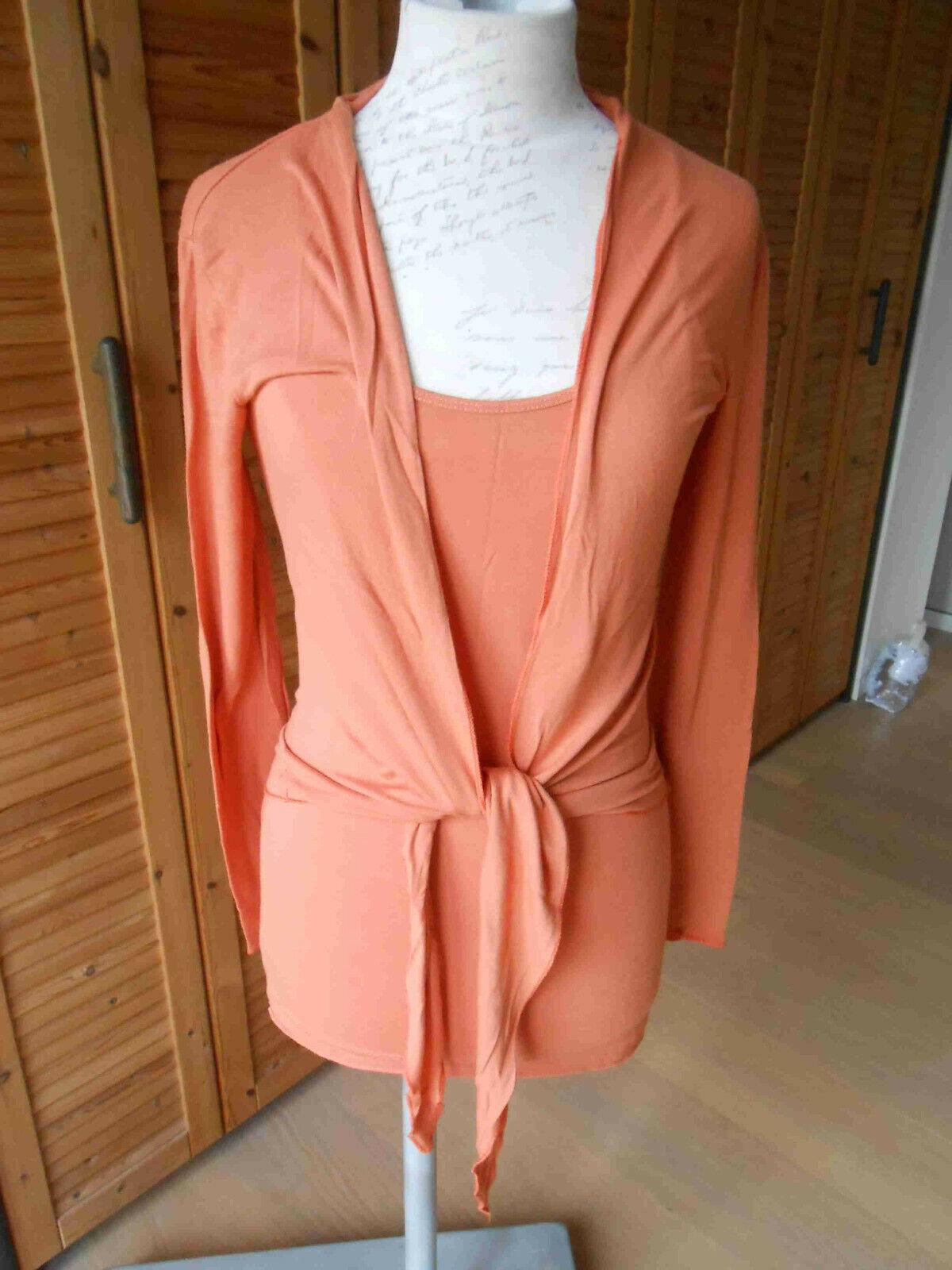 NOIR Bolero Jacke S 36 38 Top Unterkleid 2x Set made by ITALY Nachhemd Nachthemd