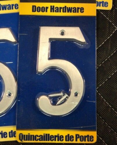 "1 per price  P52 Taymor # 5 House Number 25-ANC45 Satin Aluminum 4/"" Qty selling"