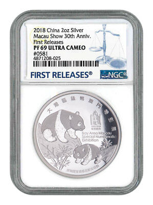 Hong Kong-Zhuhai-Macao Bridge 2018 China 30g Antiqued Silver Panda Medal