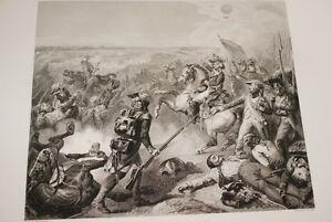 BATAILLE-DE-FLEURUS-REVOLUTION-1794-GRAVURE-1838-VERSAILLES-R1360