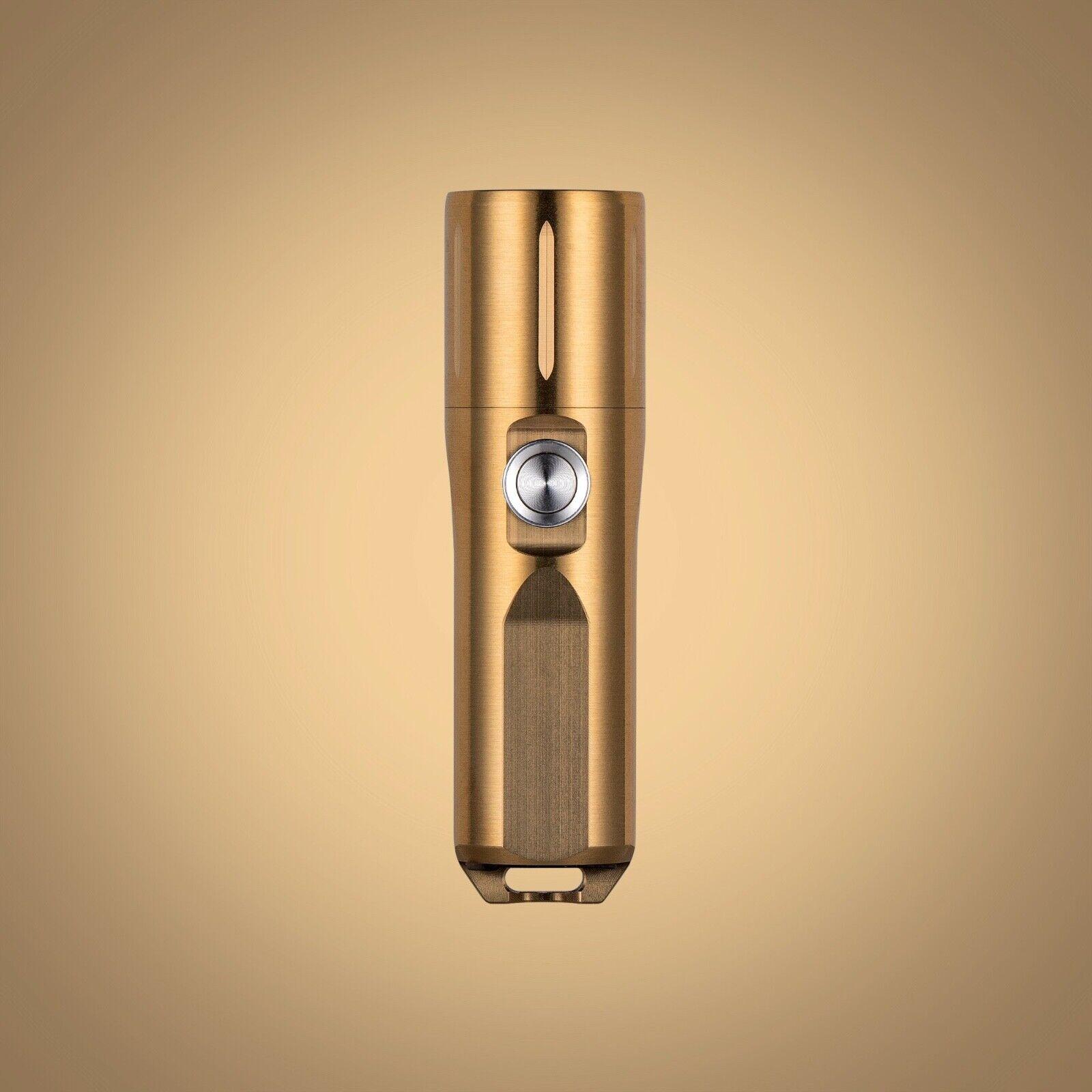 Aurora A29 Cu Brass Compact High-CRI EDC Flashlight, Brass RovyDoor