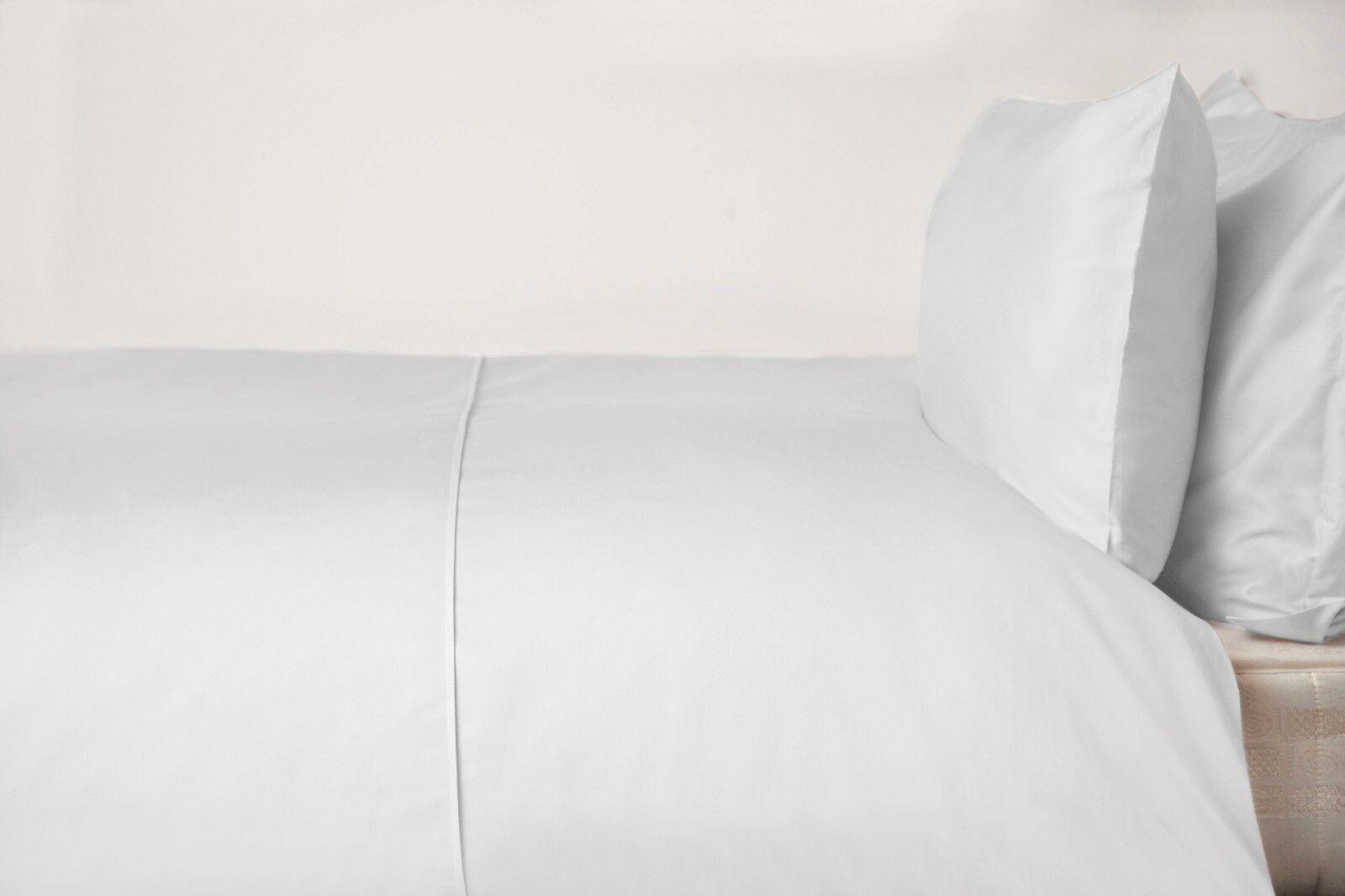 450 fili; Cotone Pima Letto King Dimensione Copripiumino in Bianco