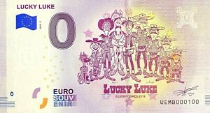 BILLET-0-EURO-LUCKY-LUKE-COMICS-FRANCE-2018-NUMERO-100