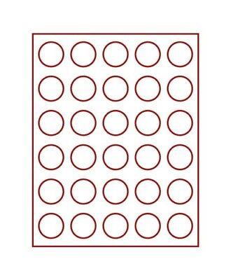 Discreet Lindner 2761 Coin Box-smoked Glass / Dark Red Insert