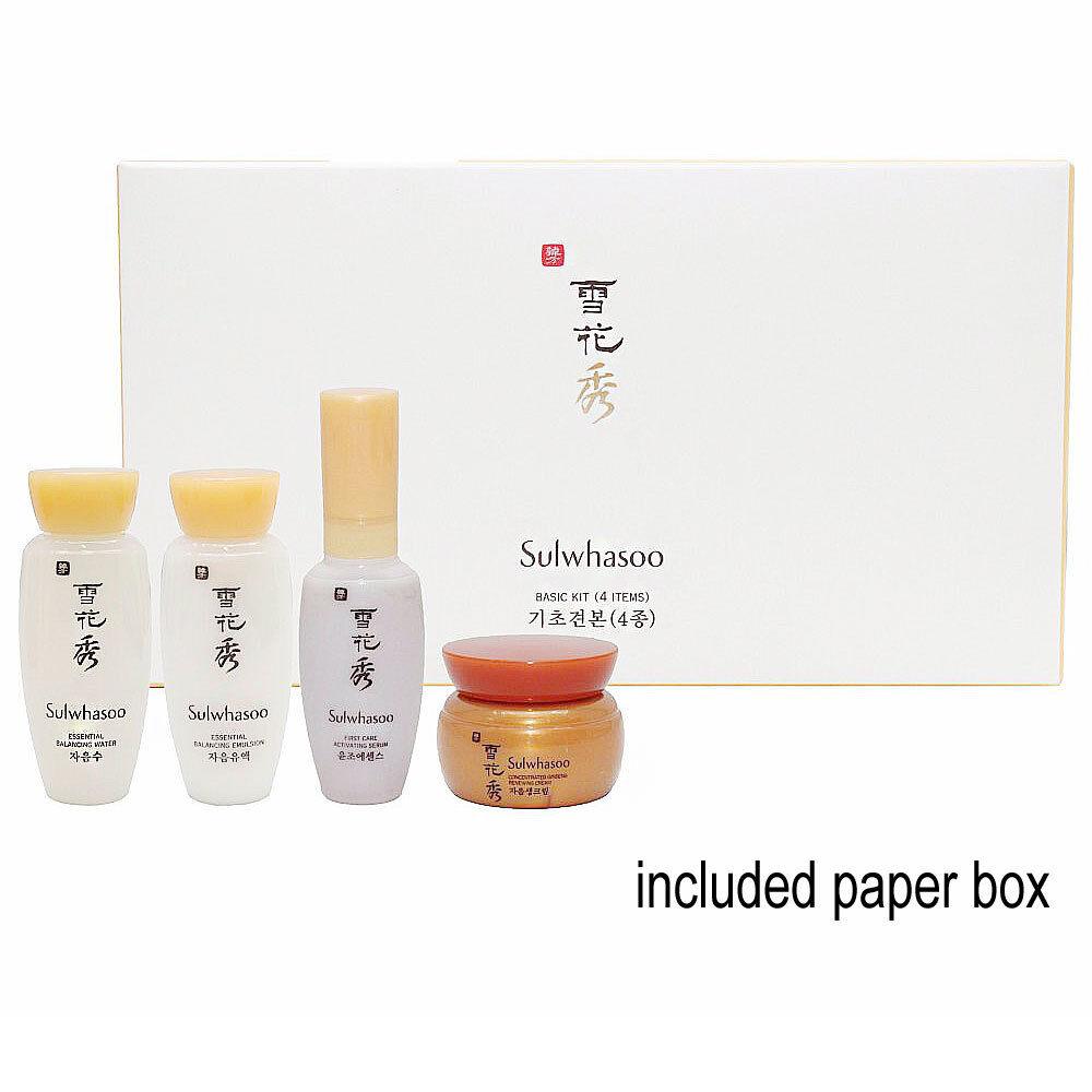 Sulwhasoo Basic Kit (4 Items) Serum+Water+Emulsion+Cream