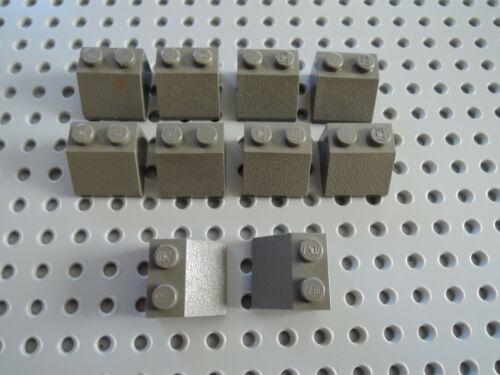 Lego 10 x Dachstein Oblique Stone Slope 3039 2x2 Old Dark Grey