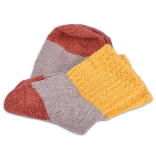 5 Women Girl/'s Multicolor Wool Cashmere Socks Winter Warm Thick Soft Socks Li