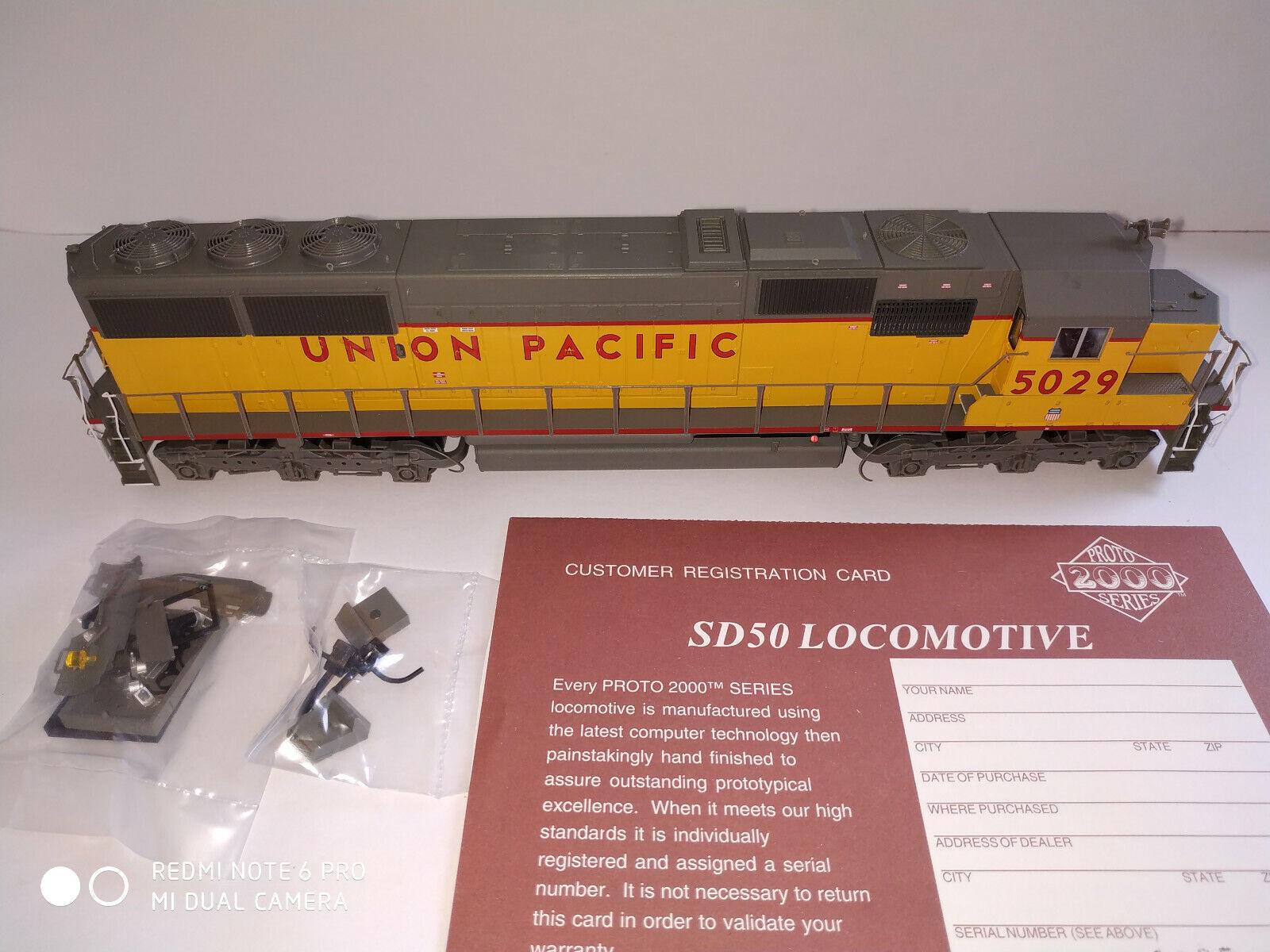 Livsliknande Prödo2000 30846 - EMD SD50 Union Pacific (DC) oanvänd