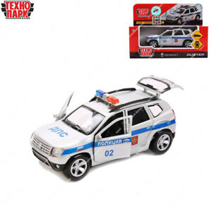 Tehnopark Diecast véhicules police Renault Duster russe jouet voitures 12 cm