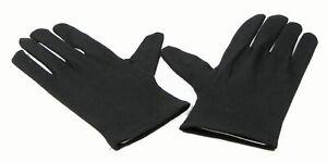 Einfache-Baumwollhandschuhe-schwarz-fuer-Herren-Herrenhandschuhe-Karneval