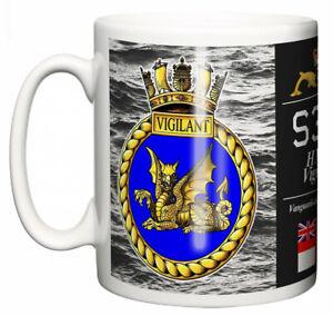 HMS Vigilant Ceramic Mug, Vanguard Class Strategic Submarine Pennant S30