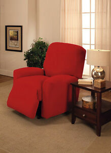 Red Recliner Cover Also Comes In Sofa Couch Loveseat Chair