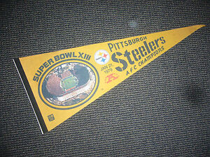 1/21 1979 SUPER BOWL XIII PITTSBURGH STEELERS AFC CHAMPIONS PENNANT NICE
