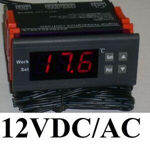 Digital LED Heat Cool Thermostat Temperature Controller Sensor Hottest DC 12V