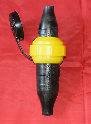 B2 1 Stk Merten Gummi-Schuko-Steckvorrichtung 535451schwarz-gelb