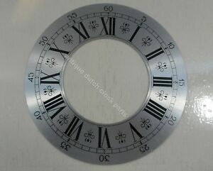 NEW-OLD-STOCK-DIAL-OR-CHAPTER-RING-FOR-CLOCKS-SILVERED-8-034-OR-20-3-CM