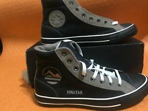 Converse-Chuck-Taylor-Boot-PC-HI-leather-Black-whit-gray-Sz-Men-s11-5-womens13-5