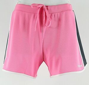 Clothing, Shoes & Accessories Dedicated Reebok New S Pink Gray White Polyester Playdry Shorts H312 Neither Too Hard Nor Too Soft