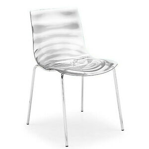 Details about Calligaris Leau Chair Stackable Designer Lounge Chrome Dining  Chair