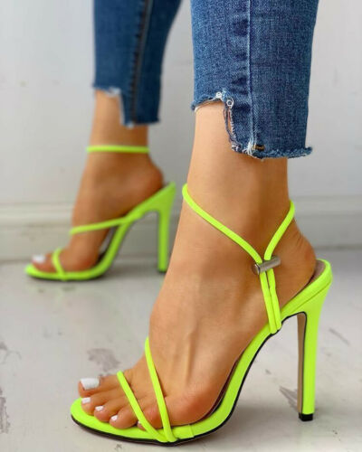 Fashion Women Ladies Sandals High Heel Shoes Ladies Party Flops Strappy Mules