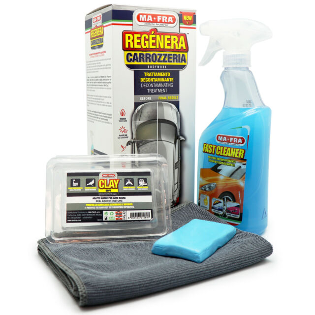 Kit Regénera Carrozzeria Auto Fast Cleaner 500ml e Clay Bar Soft MA-FRA H0946