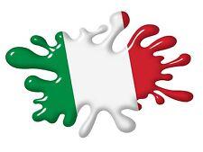 3D Printed Effect Retro SPLAT Italy Italian il Tricolore Flag vinyl car sticker