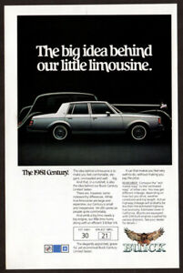 1981-BUICK-Century-Vintage-Original-Print-AD-Silver-little-limousine-photo-US-EN