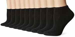 Hanes-Cushioned-Women-039-s-Low-Cut-Athletic-Socks-10-Pack