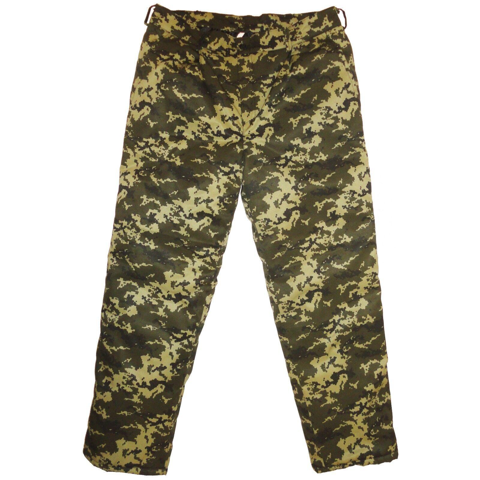 Winter Military Army Green Digital Camo Trousers Pants Russian Ukrainian Uniform