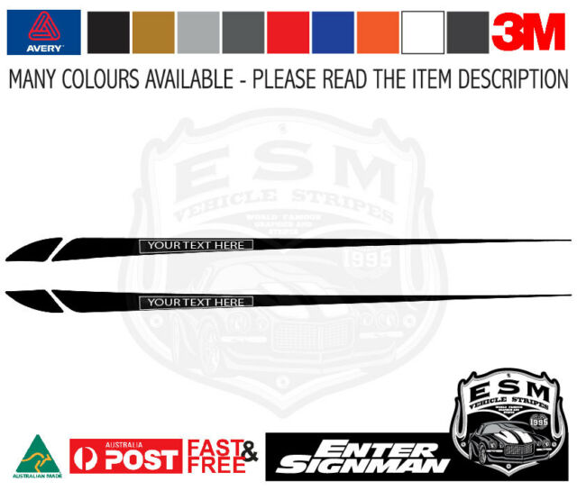 ESM BA BF BONNET DECAL with YOUR OWN CUSTOM TEXT to fit BA BF FALCON 3M-50