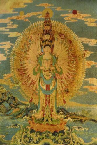 Tibetan Buddhist tapestry Thangka Thousand Bodhisattva Thangka