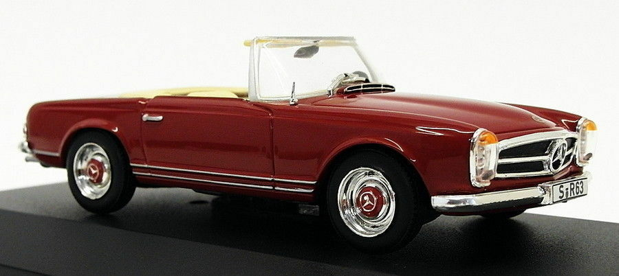 Whitebox 1 43 Scale Model Car WB015 - 1963 Mercedes Benz 230 SL - Dark Red