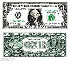 Etats-UNIS-AMERIQUE-USA-Billet-1-Dollar-NEUF-UNC