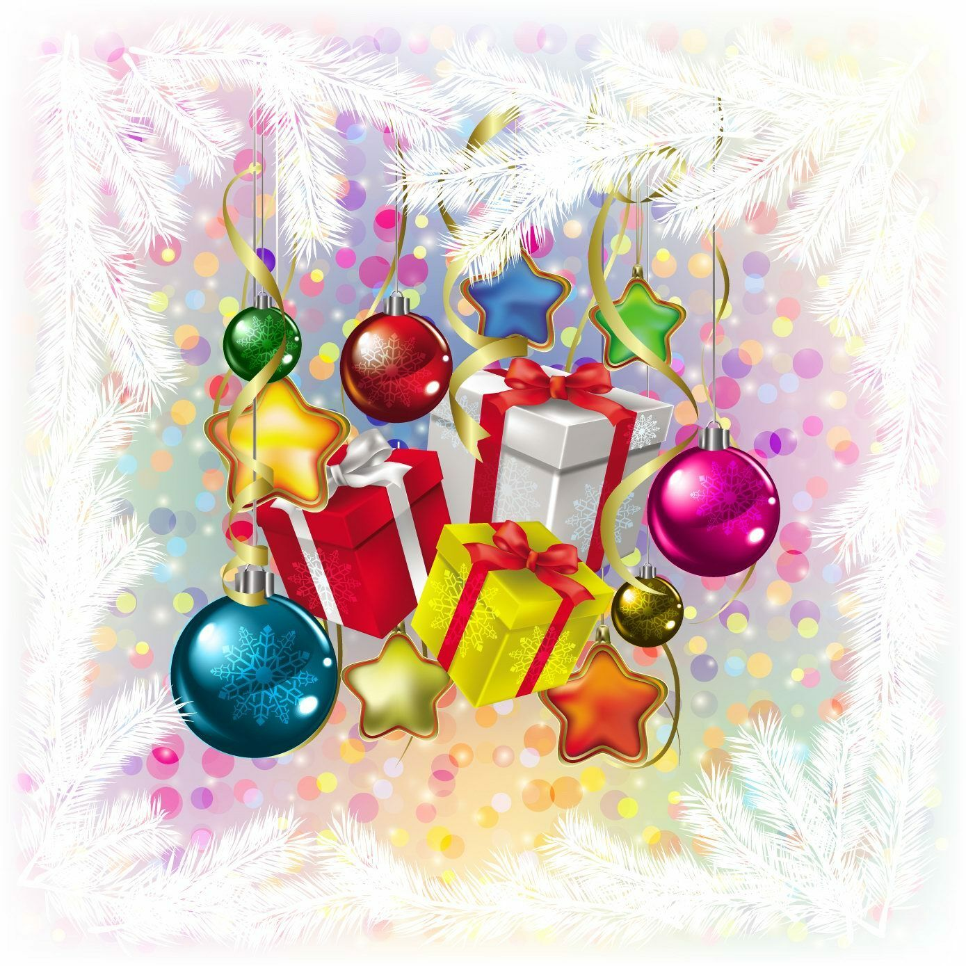 3D Christmas gift box colour Wall Paper Print Decal Wall Deco Wall Indoor Murals