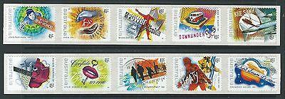 Ehrlich Australien 2001 Rock And Pop Music Set 10 Selbstklebend Spule Postfrisch Briefmarken Australien