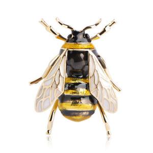 Suess-Biene-fliegendes-Insekt-Brosche-Zubehoer-der-Kleidung-Emaille-Brosche-V6G3