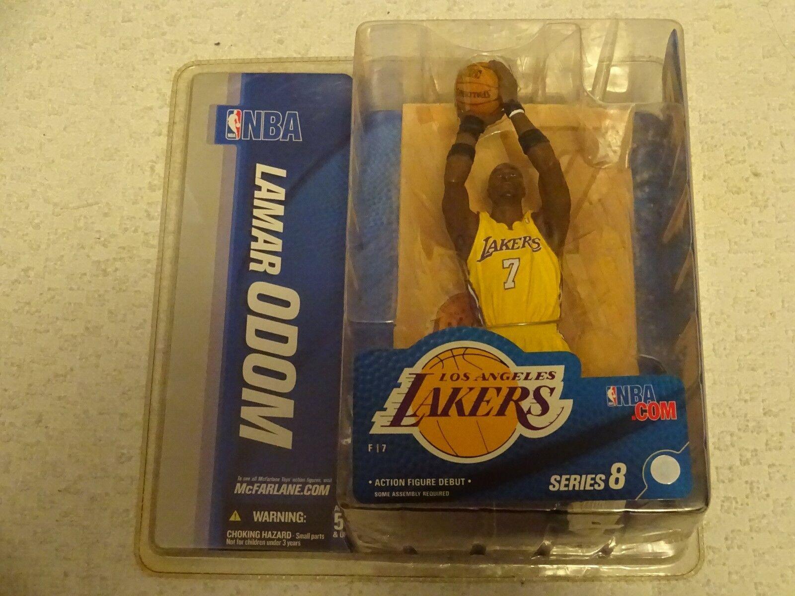 McFarlane NBA Series 8 Lamar Odom Chase VARIANTE JAUNE Figure nouveau livraison gratuite